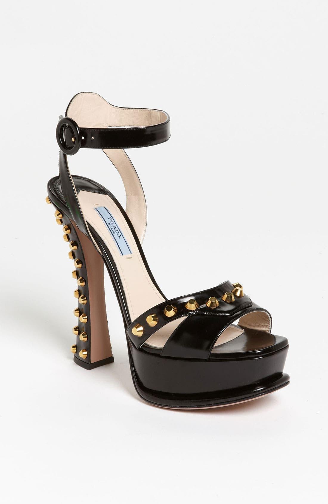 Alternate Image 1 Selected - Prada Platform Studded Heel Sandal