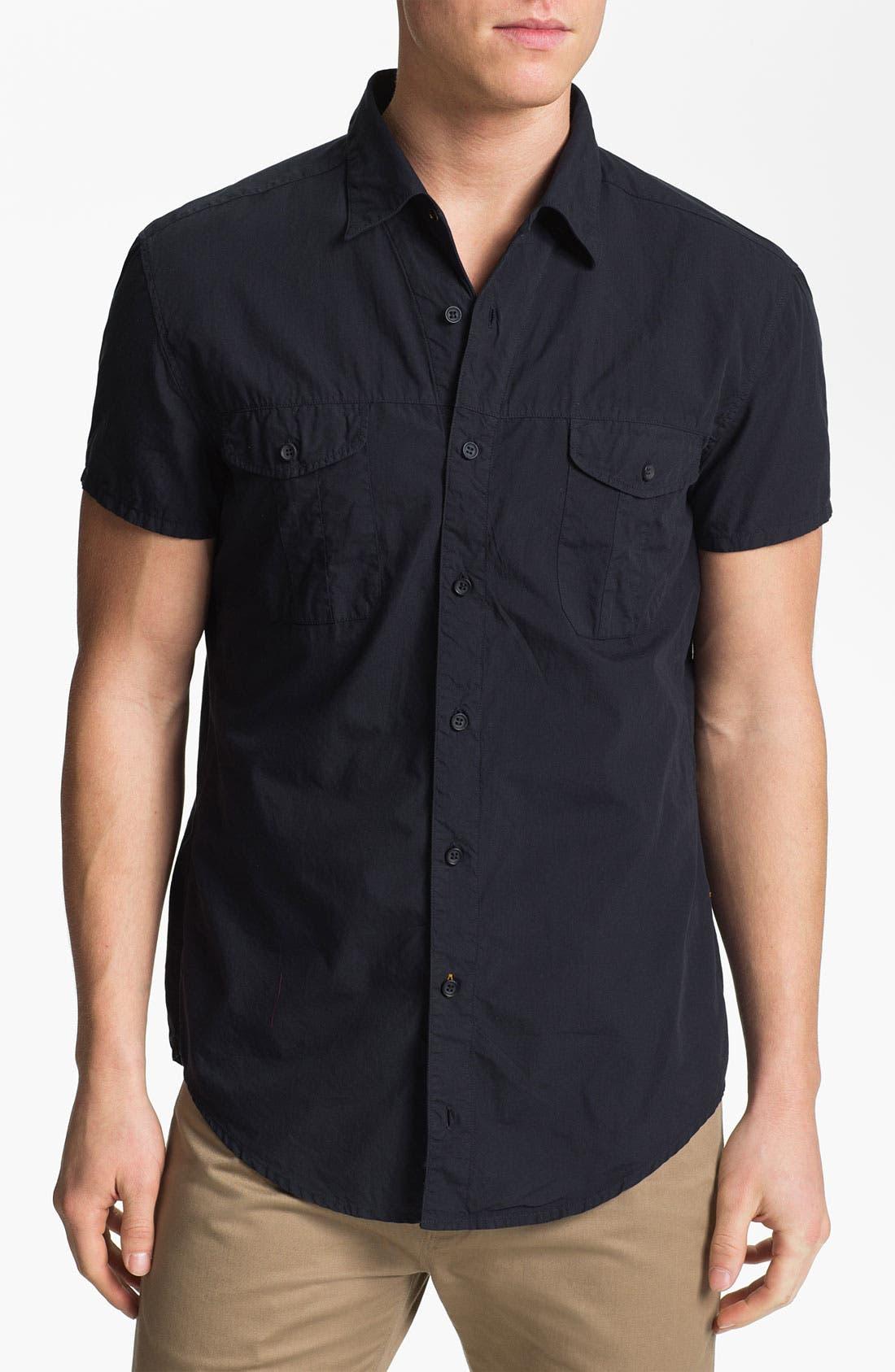 Alternate Image 1 Selected - BOSS Orange Short Sleeve Woven Shirt