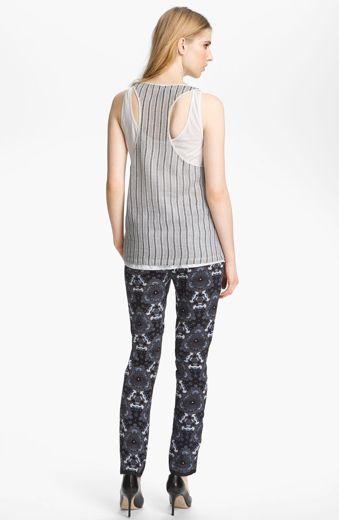 Alternate Image 4  - A.L.C. 'Jasper' Print Silk Pants