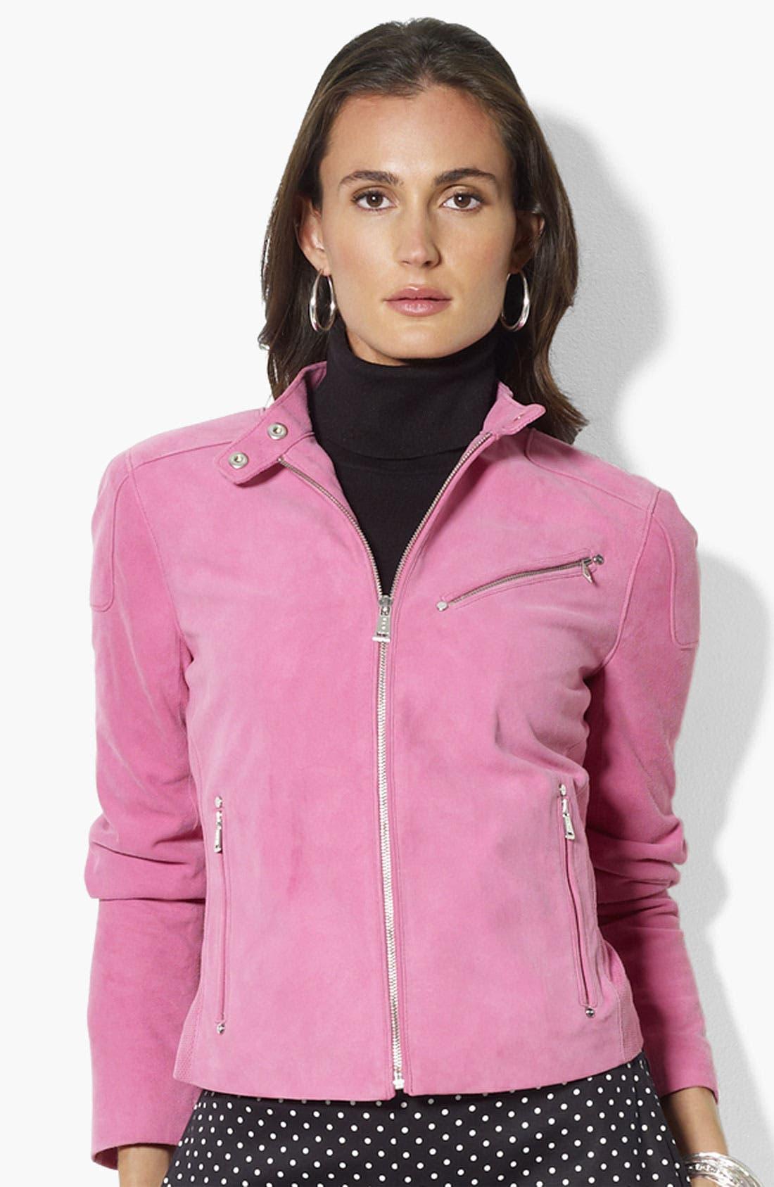 Alternate Image 1 Selected - Lauren Ralph Lauren Suede Jacket