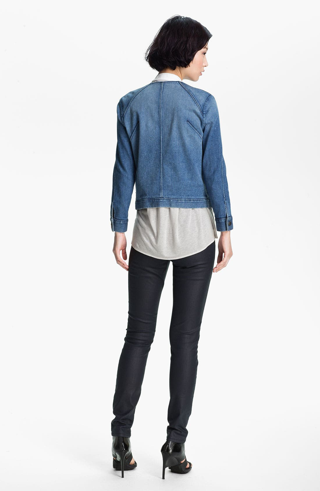 Alternate Image 3  - HELMUT Helmut Lang Denim Moto Jacket