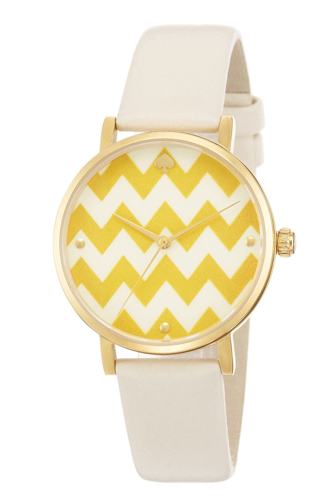 Alternate Image 2  - kate spade new york 'metro' patterned dial watch