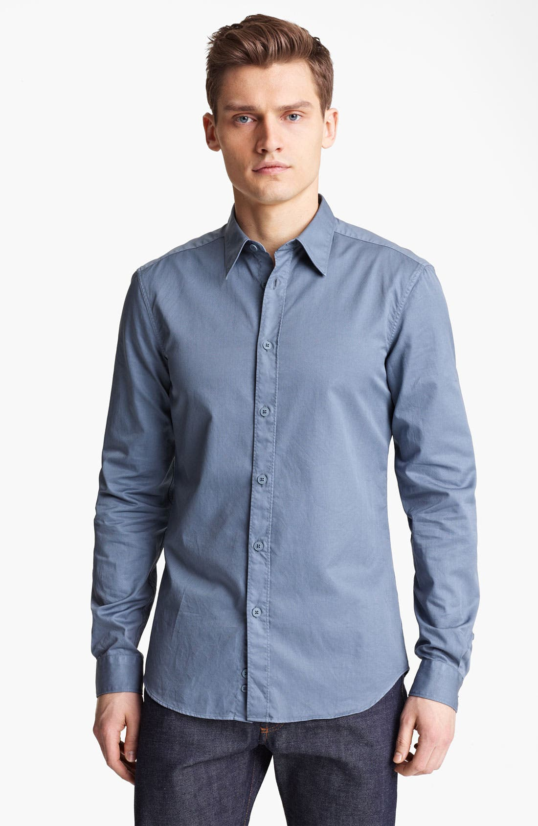 Alternate Image 1 Selected - Z Zegna Garment Dyed Woven Shirt