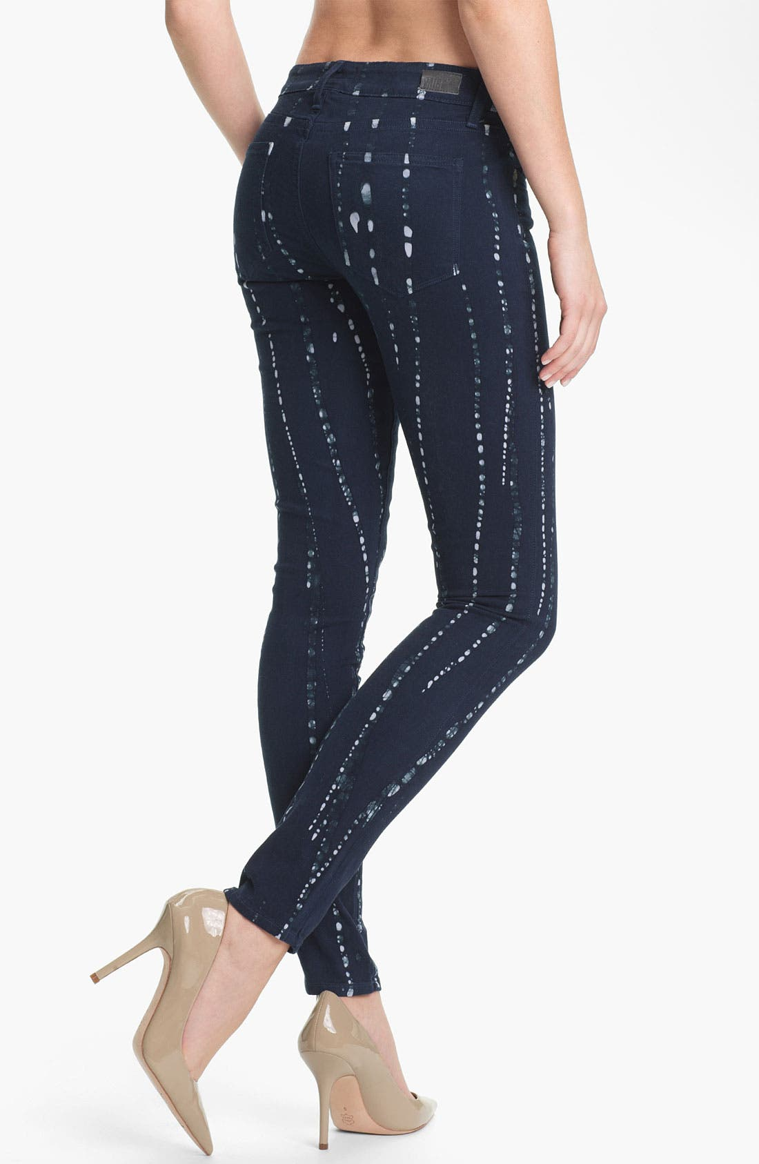 Alternate Image 2  - Paige Denim 'Verdugo' Print Skinny Jeans (Summer Night Batik)