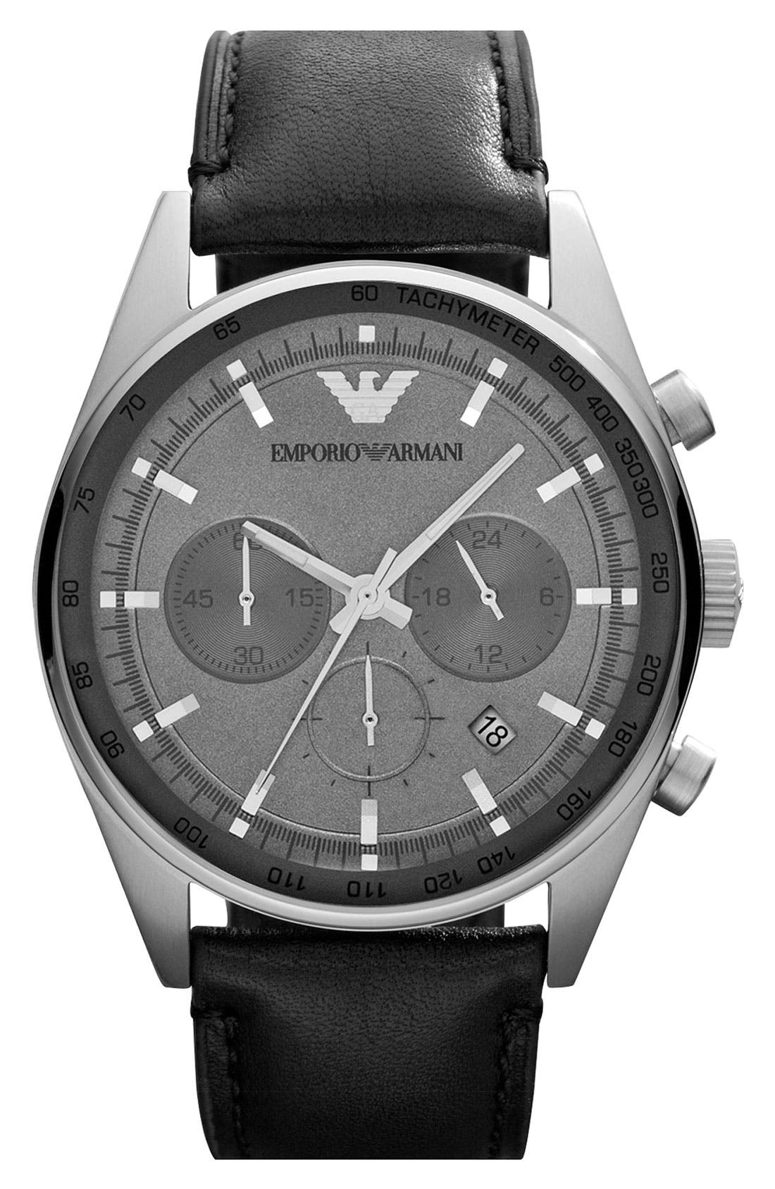 Main Image - Emporio Armani Chronograph Watch, 43mm