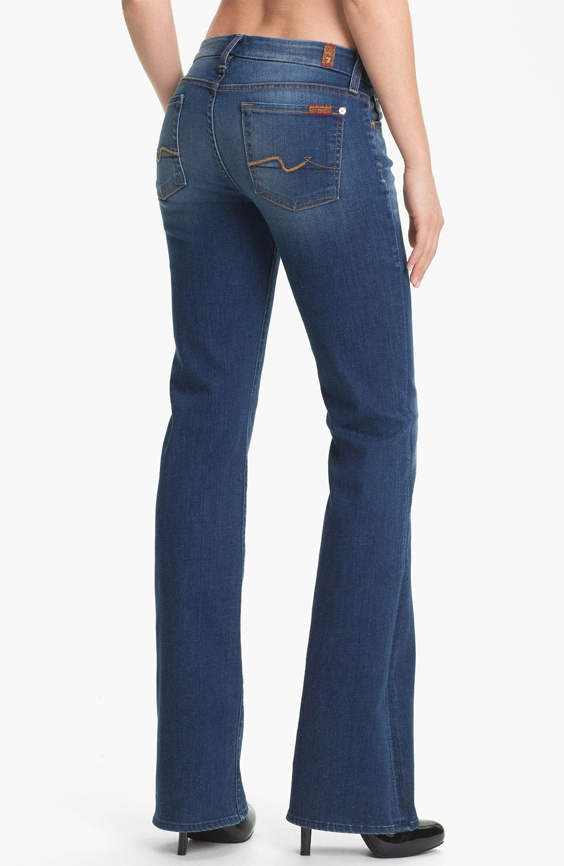 Alternate Image 2  - 7 For All Mankind® 'Kimmie' Bootcut Jeans (Light Blue Stretch)