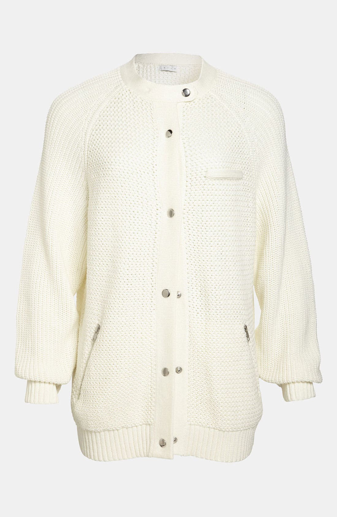 Main Image - Leith 'Sports' Knit Bomber Cardigan