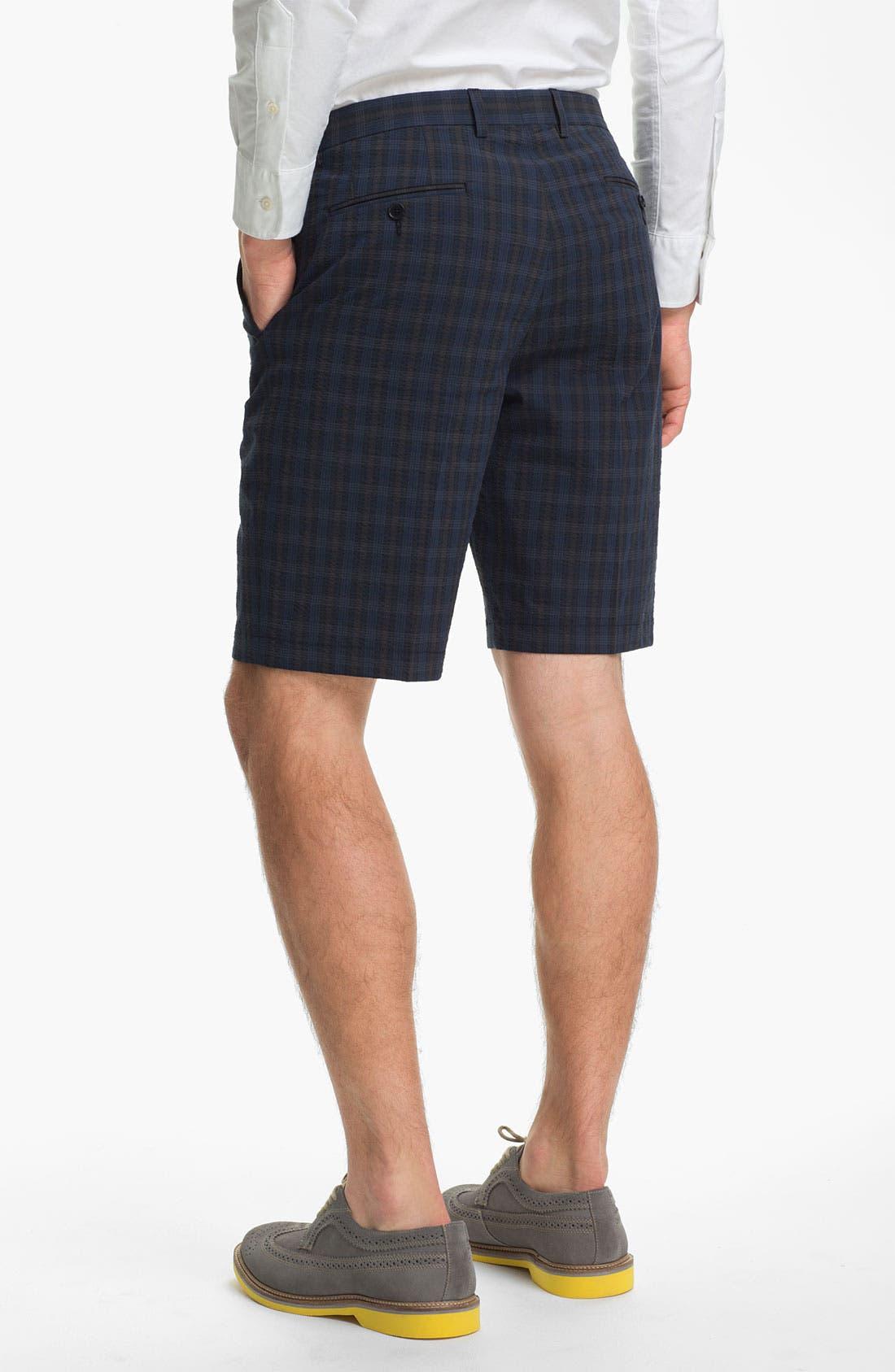 Alternate Image 2  - John Varvatos Star USA Red Label Seersucker Shorts