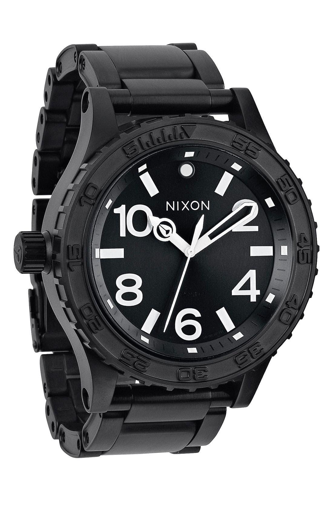 Alternate Image 1 Selected - Nixon 'The 51-30' Bracelet Watch, 51mm