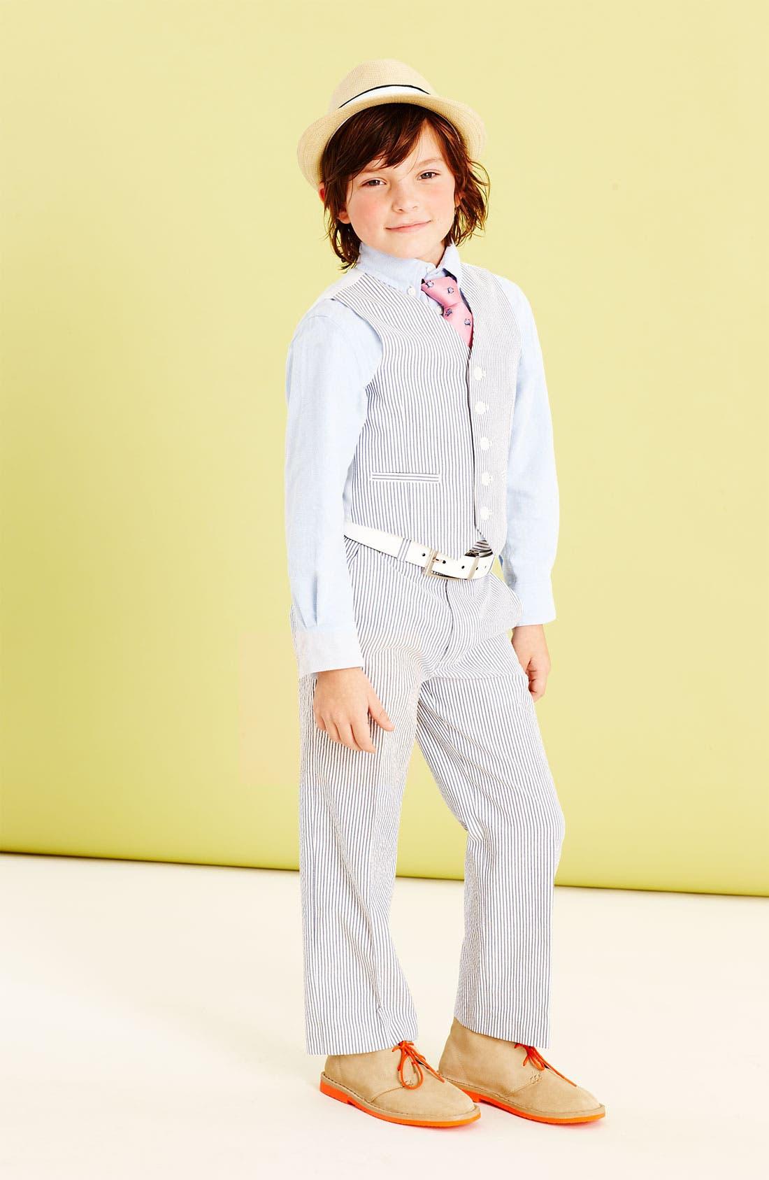 Alternate Image 3  - Nordstrom 'Phillip' Seersucker Trousers (Big Boys)