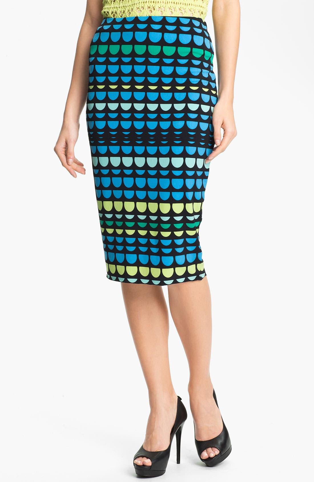 Midi Tube Skirt,                         Main,                         color, Malibu Blue