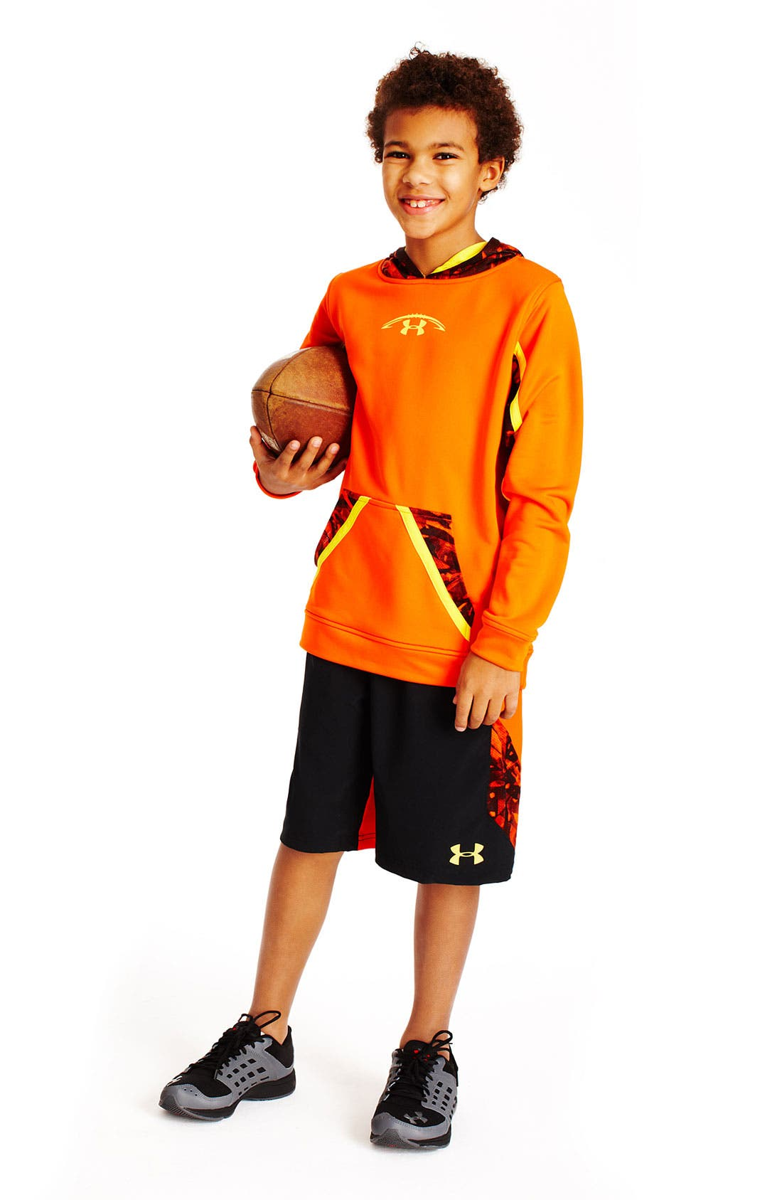 Alternate Image 1 Selected - Under Armour Hoodie & Shorts