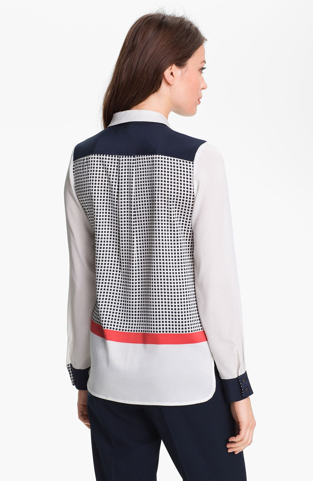 Alternate Image 2  - Adrianna Papell Colorblock Utility Shirt