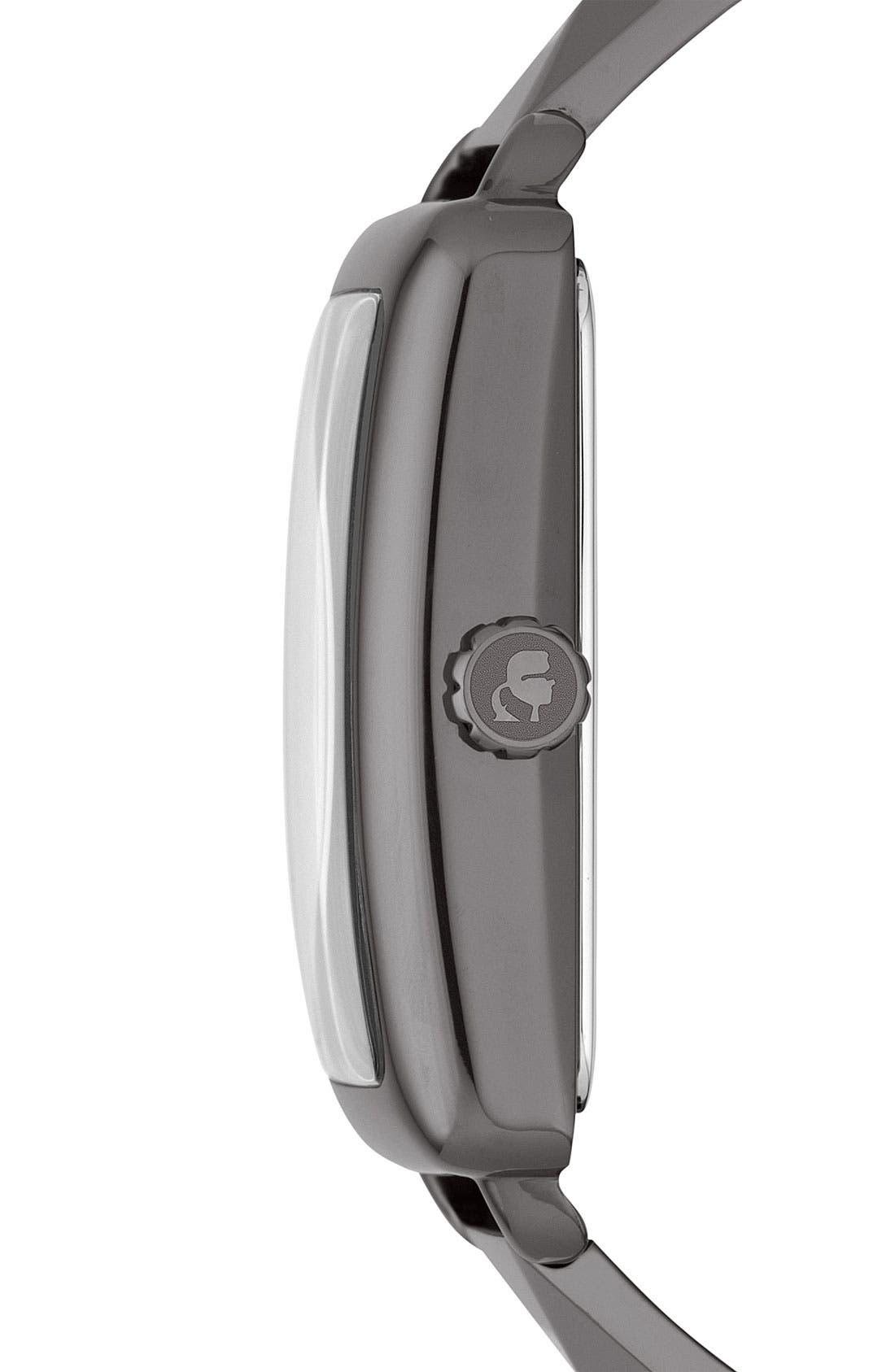 'Kourbe' Rectangular Bracelet Watch, 28mm x 41mm,                             Alternate thumbnail 2, color,                             Gunmetal