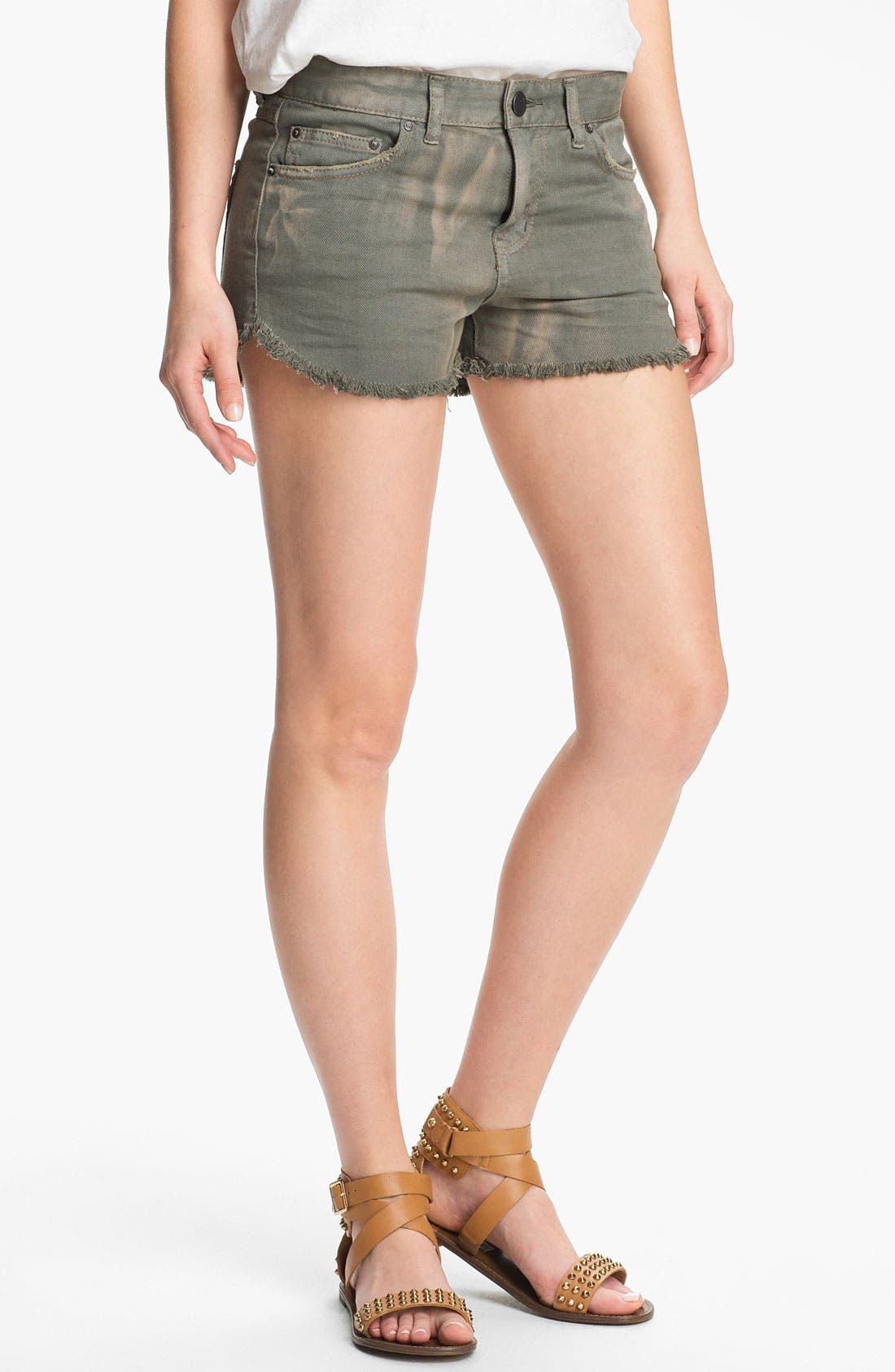Main Image - Free People 'Dolphin' Cutoff Denim Shorts (Grey)