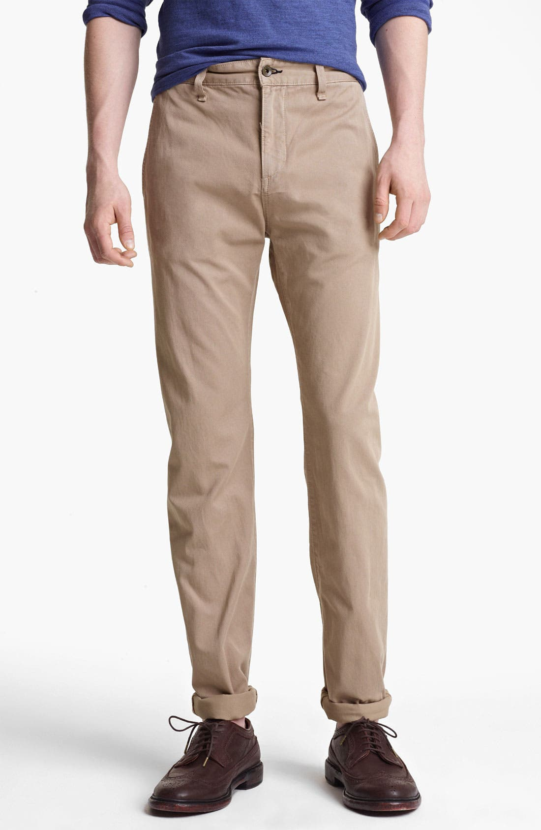 Alternate Image 1 Selected - rag & bone 'RB7' Slim Fit Cotton Pants