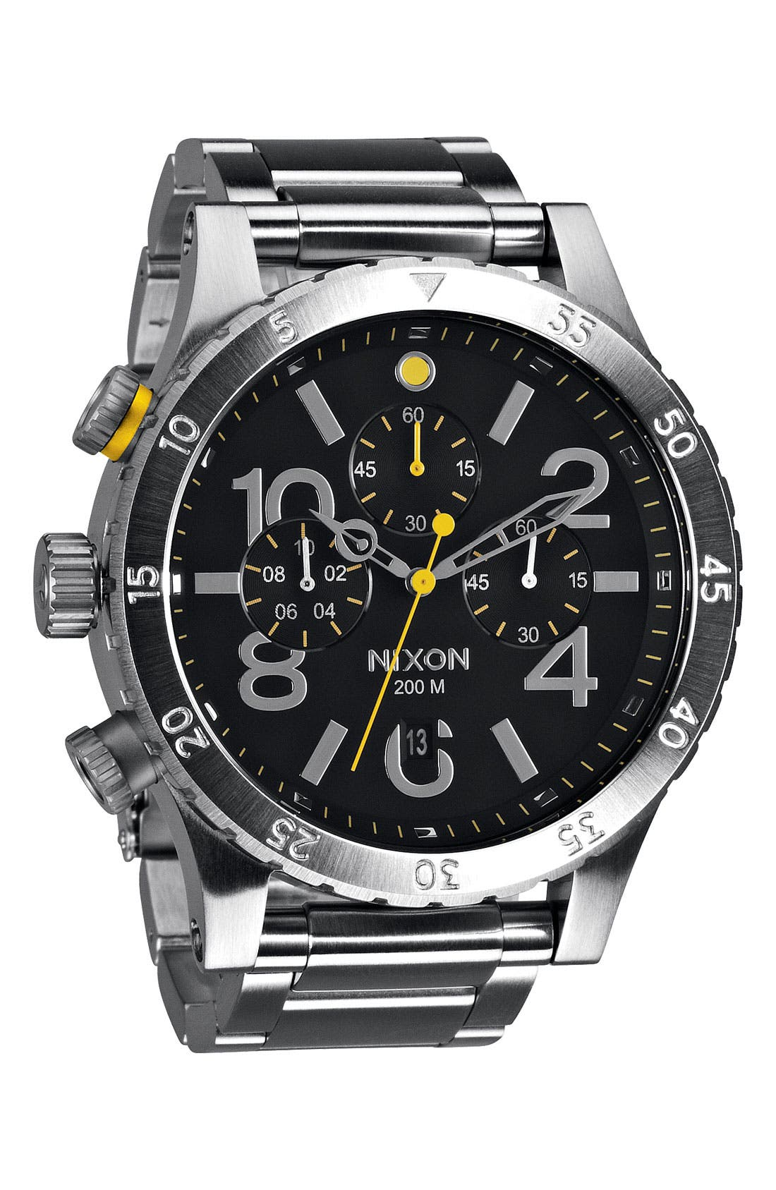 'The 48-20' Chronograph Watch, 48mm,                             Main thumbnail 1, color,                             Black/ Silver