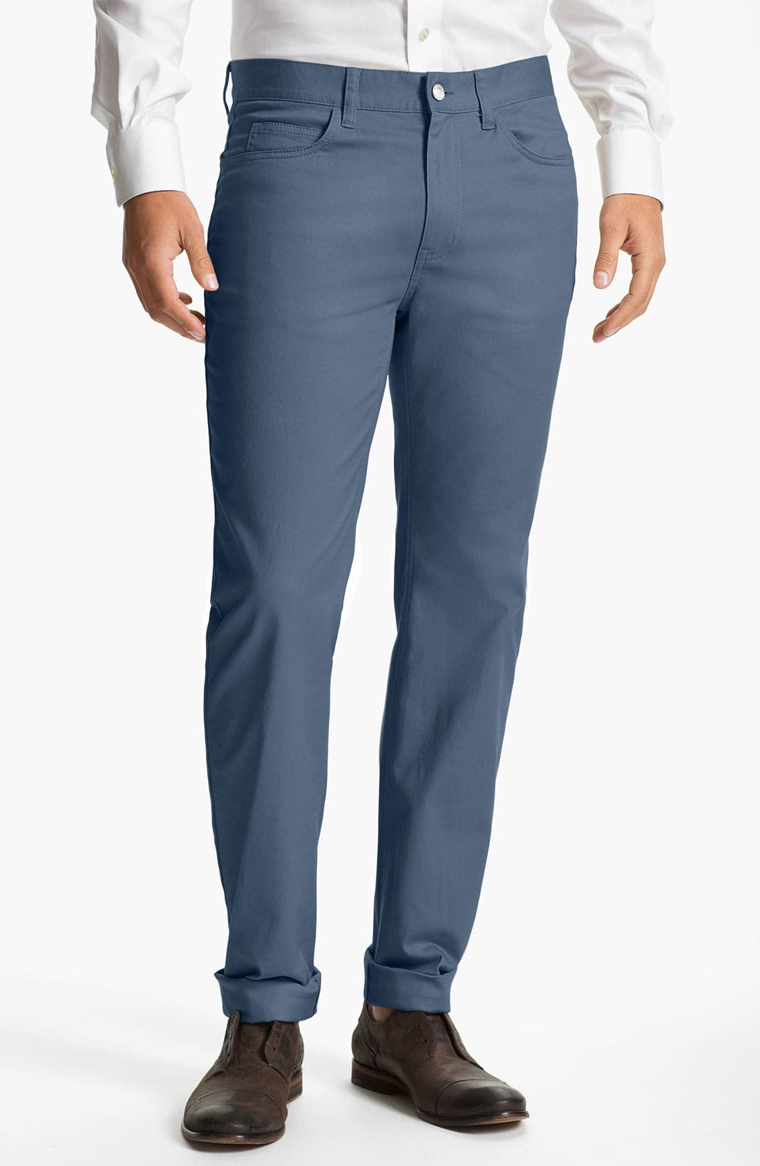 Alternate Image 1 Selected - Michael Kors Straight Leg Twill Pants