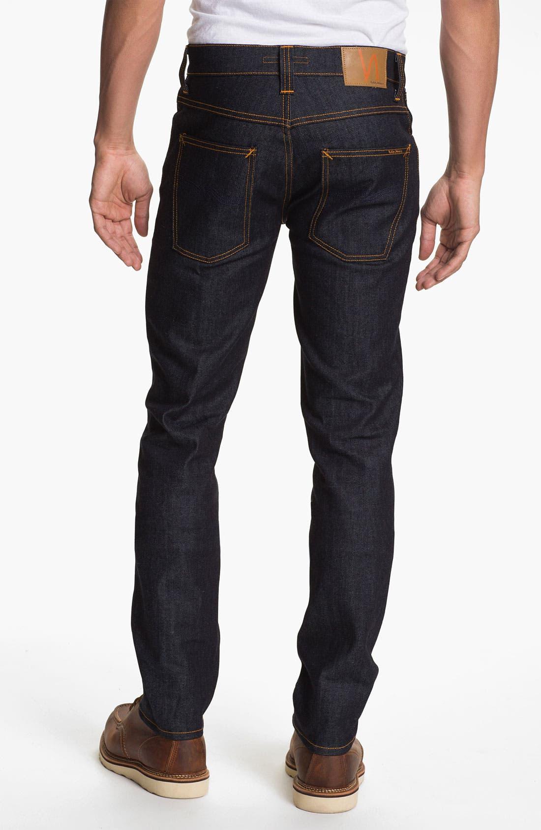 Alternate Image 2  - Nudie 'Grim Tim' Slim Fit Jeans (Organic Dry Navy)