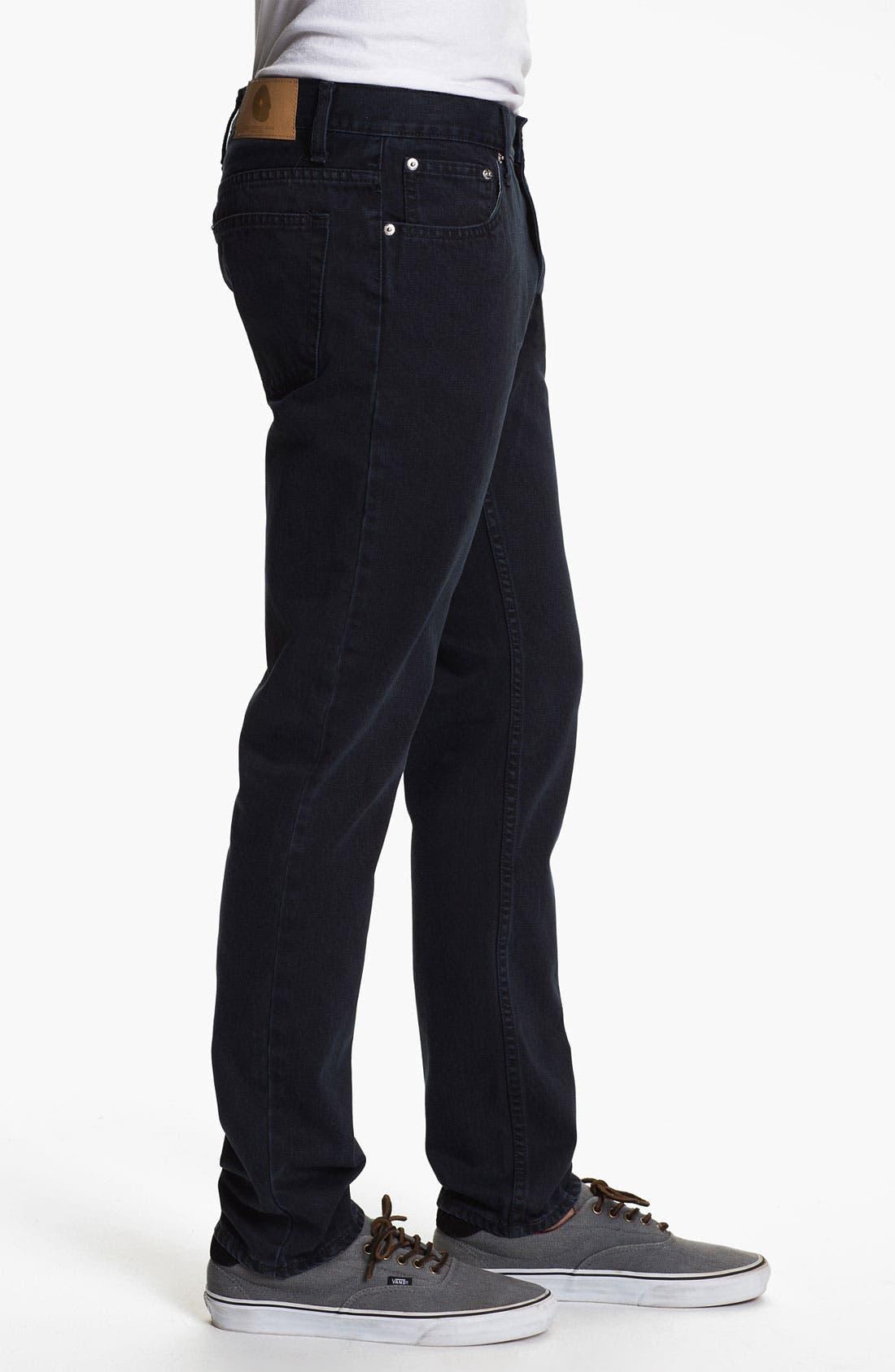 Alternate Image 3  - Cheap Monday High Slim Leg Jeans (Blue Tonal)