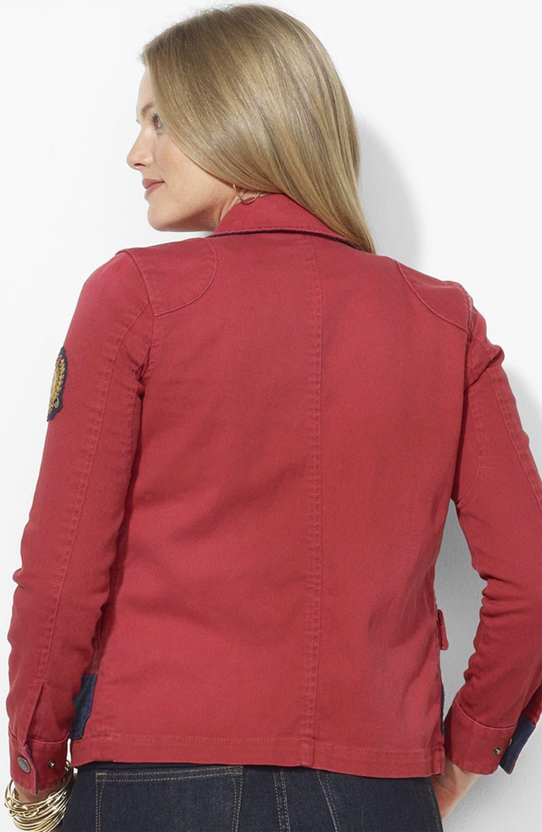 Alternate Image 2  - Lauren Ralph Lauren Denim Jacket (Plus)