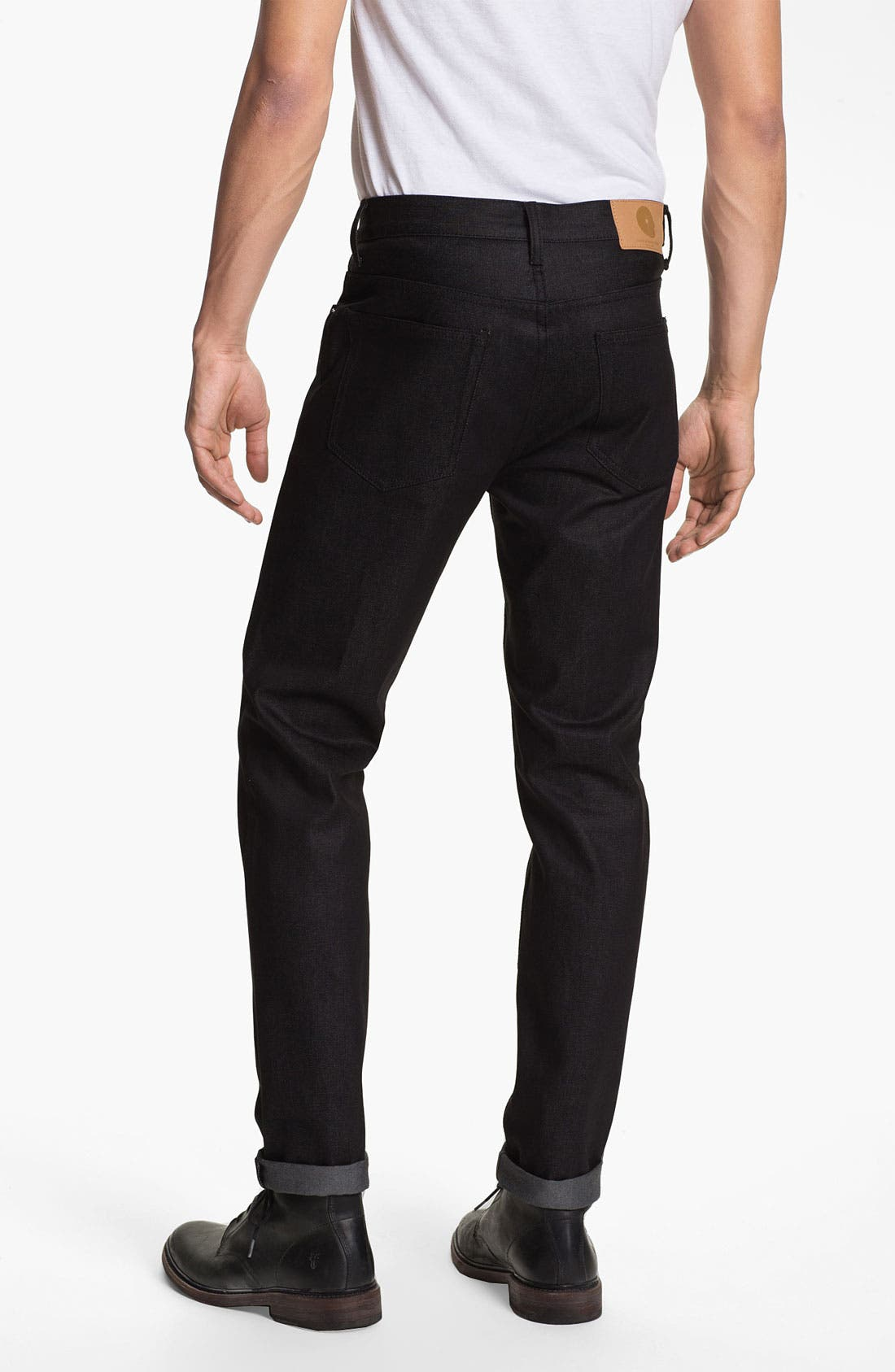 Alternate Image 1 Selected - Cheap Monday High Slim Leg Jeans (Dry Black)