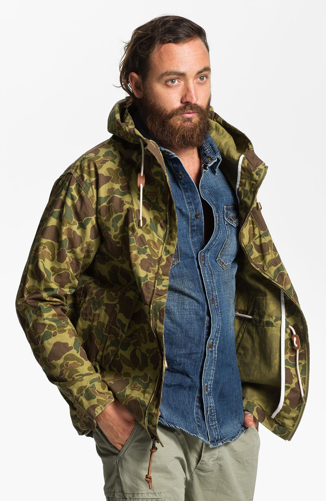 Main Image - Penfield 'Gibson' Wax Coated Camo Jacket