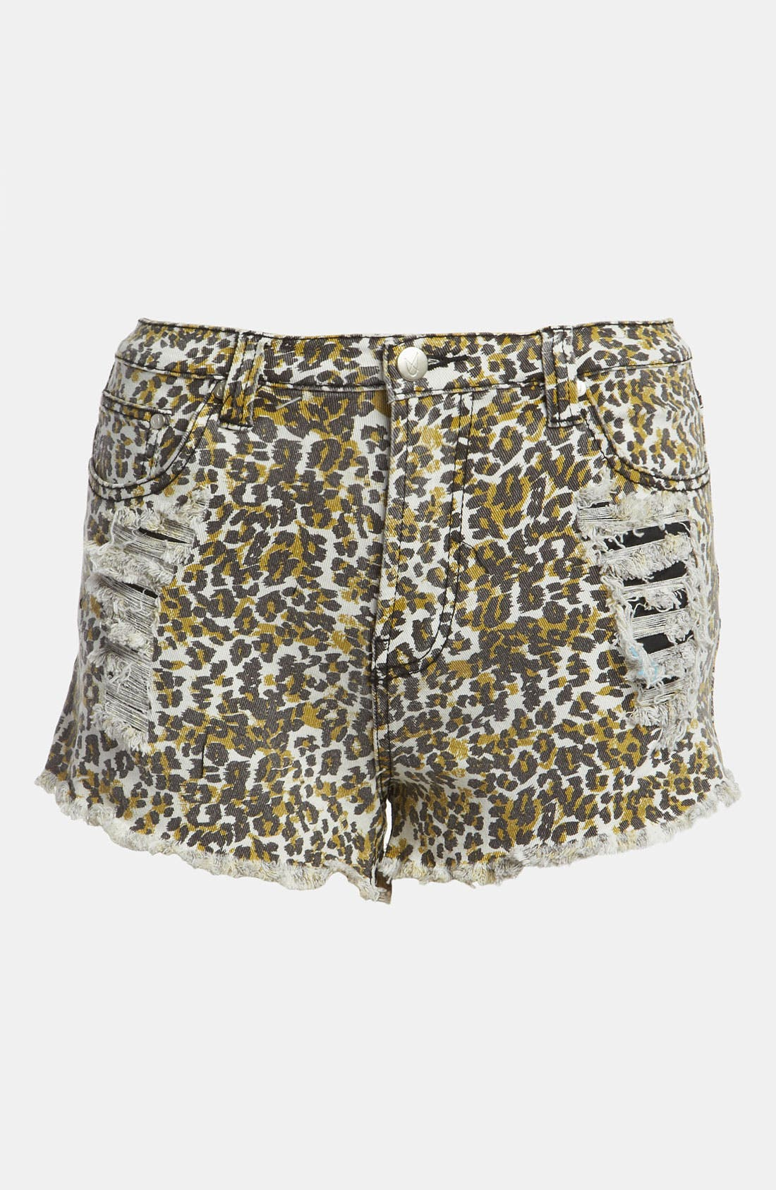 Main Image - MINKPINK 'Runaway Leopard' Slash Shorts
