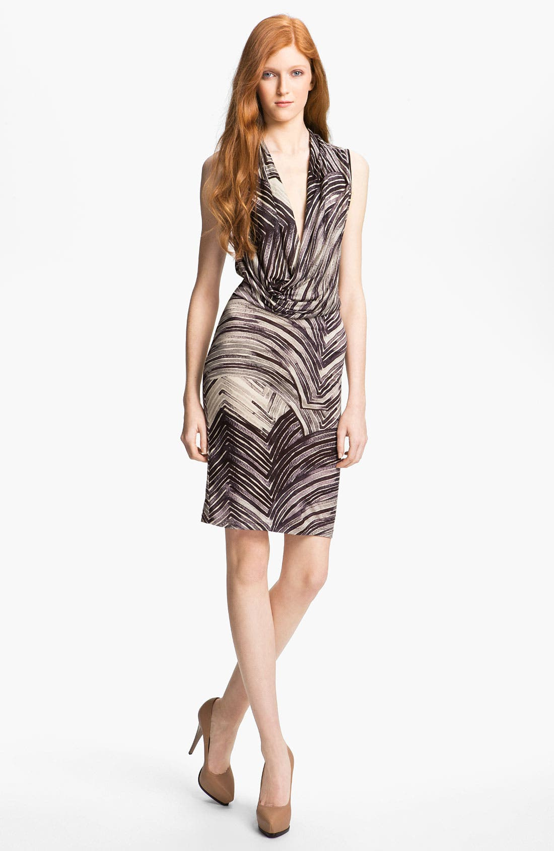 Main Image - Halston Heritage Draped Dress