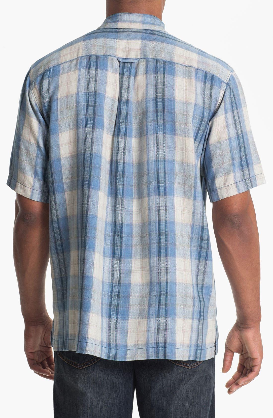 Alternate Image 2  - Tommy Bahama 'Seaside Plaid' Silk Campshirt (Big & Tall)
