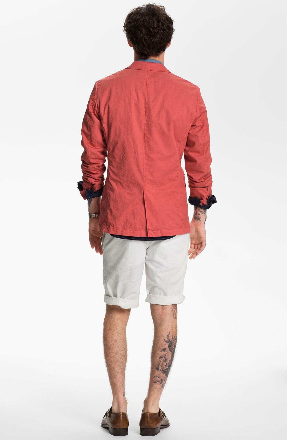 Alternate Image 5  - BOSS Orange 'Eddaie' Dip Dye Denim Shirt
