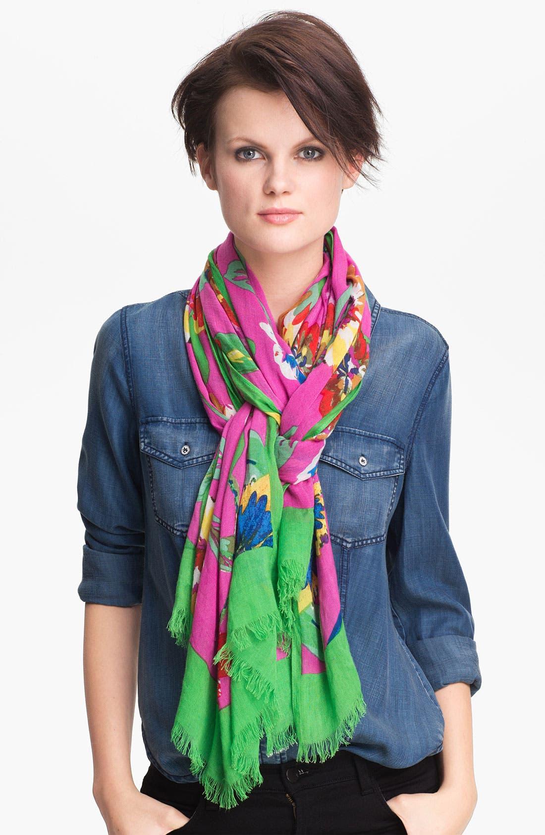 Main Image - kate spade new york 'jumbo blossom' scarf