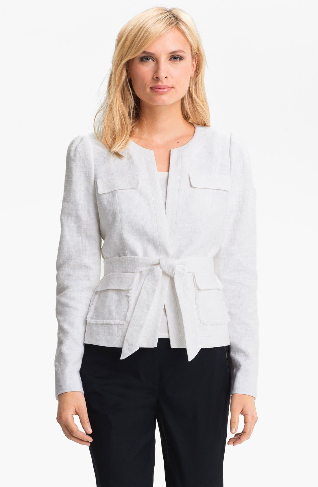 Alternate Image 1 Selected - Classiques Entier Belted Linen Jacket