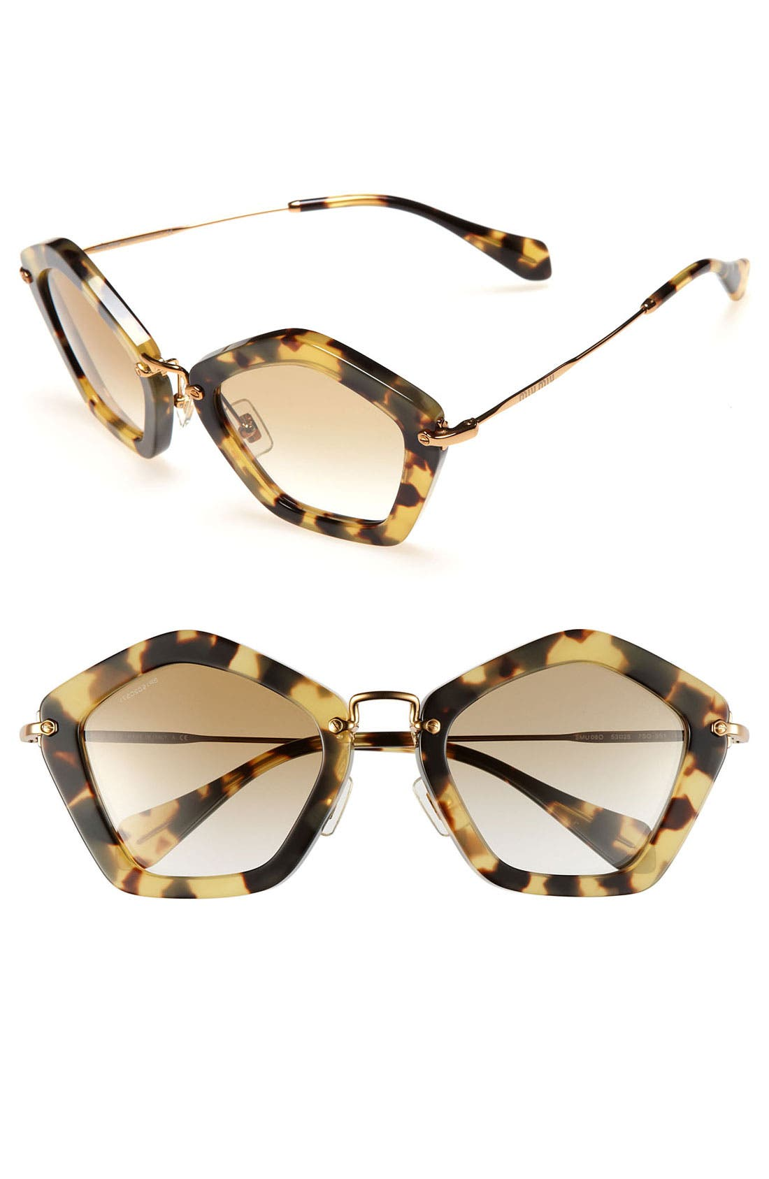 Alternate Image 1 Selected - Miu Miu Geometric Sunglasses