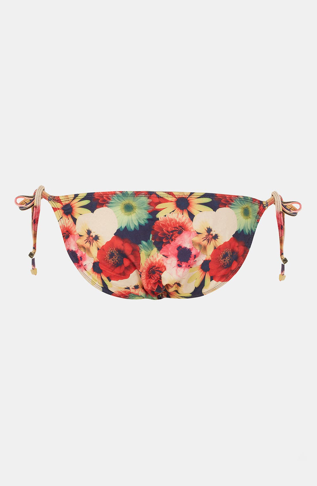 Alternate Image 2  - Topshop 'Bouquet' Digital Print Side Tie Bikini Bottoms