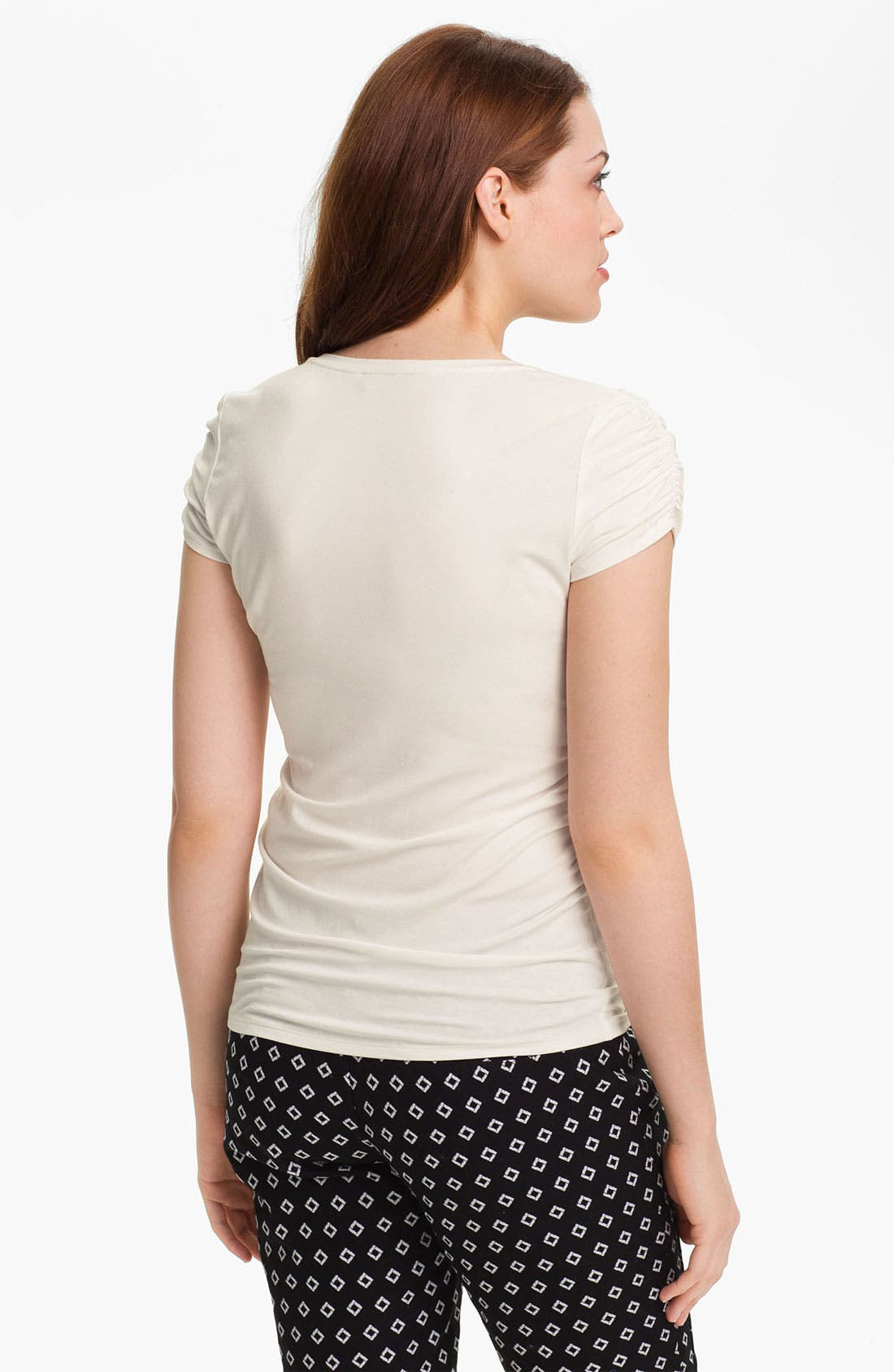 Alternate Image 2  - Vince Camuto Ruched Short Sleeve Tee