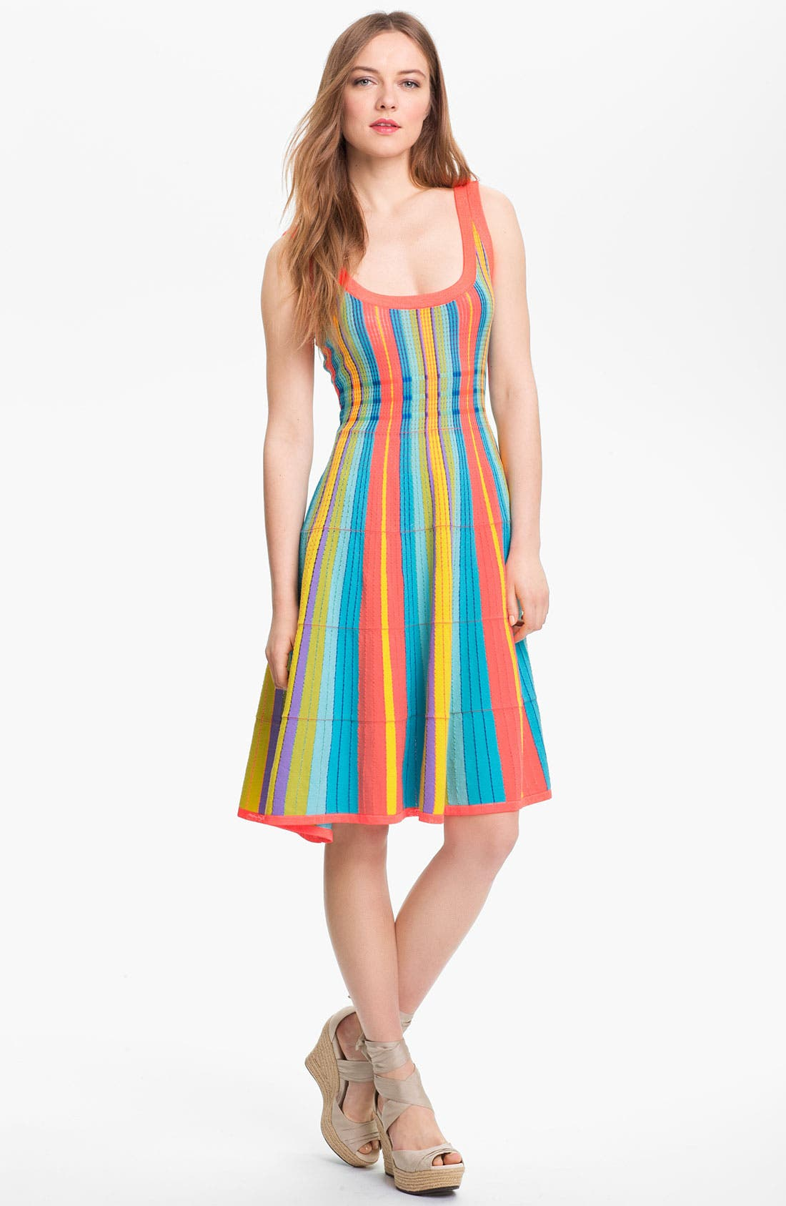 Alternate Image 1 Selected - kate spade new york 'ariele' cotton blend a-line dress