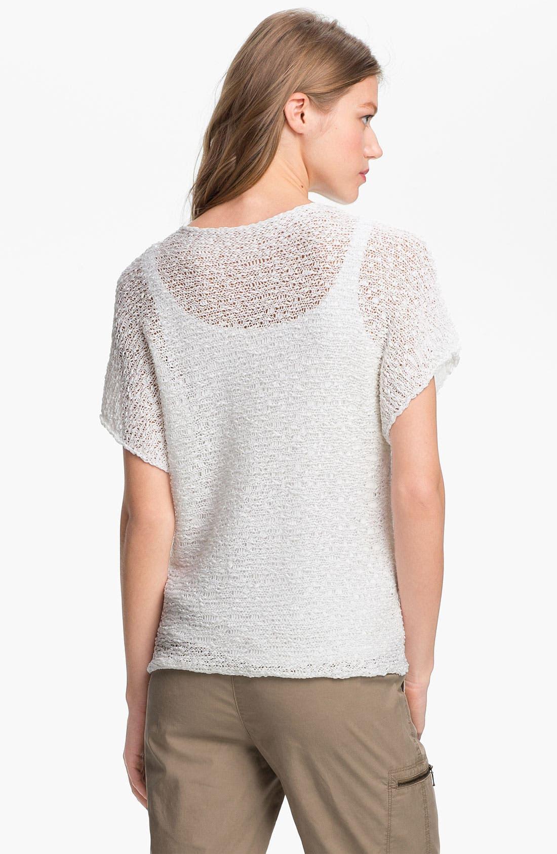 Alternate Image 2  - Eileen Fisher Open Stitch Cotton Sweater