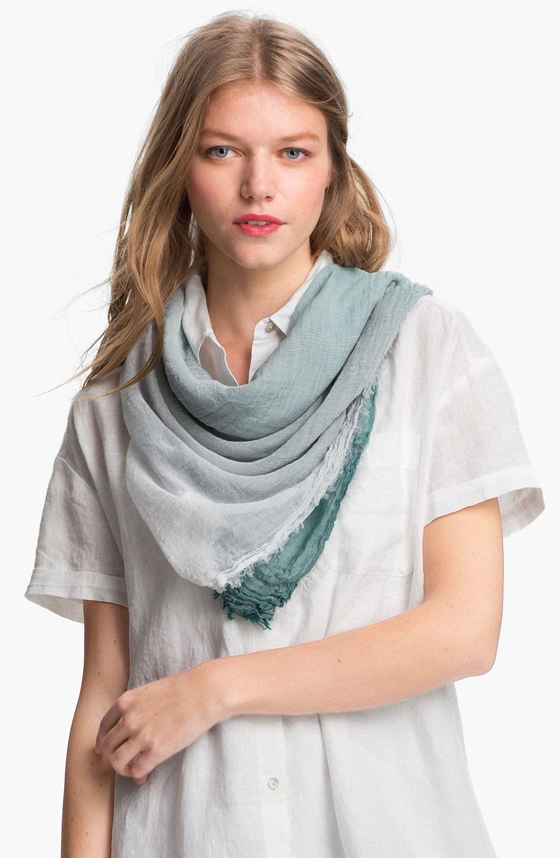 Alternate Image 1 Selected - Eileen Fisher Ombré Weave Square Scarf