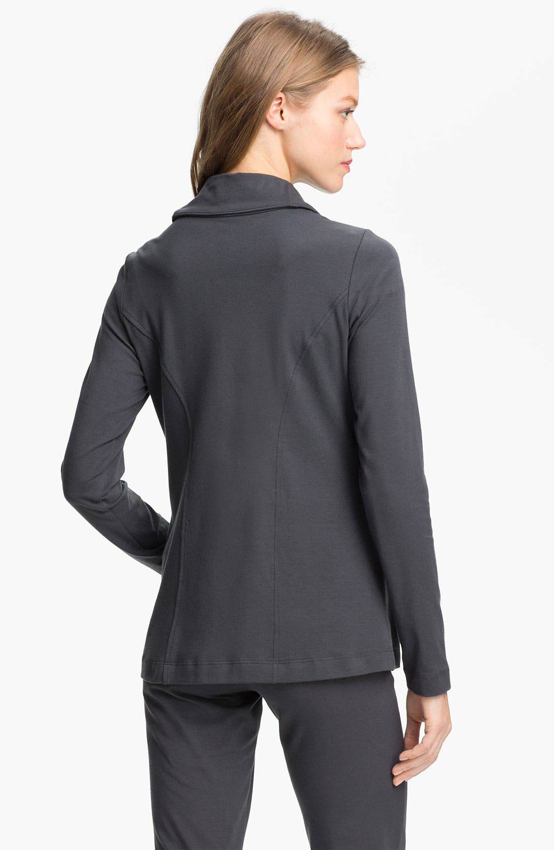 Alternate Image 2  - Eileen Fisher High Collar Shaped Jacket