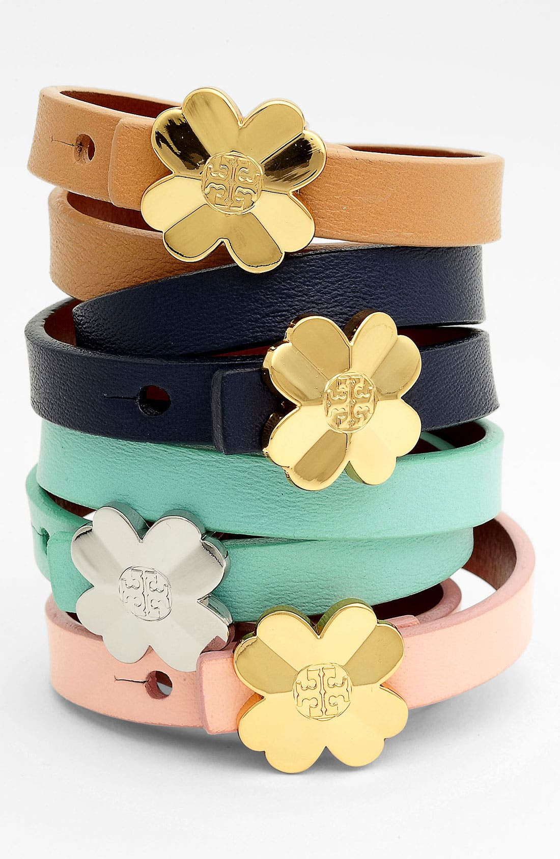 Alternate Image 1 Selected - Tory Burch 'Shawn' Logo Double Wrap Bracelet