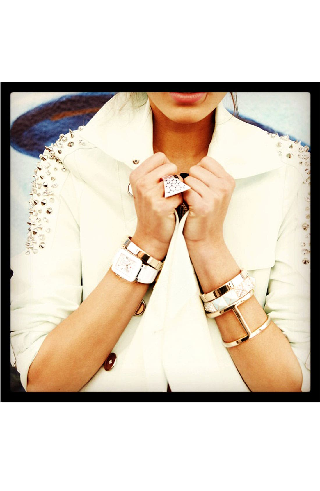 Alternate Image 3  - Cara Pyramid Stretch Bracelet