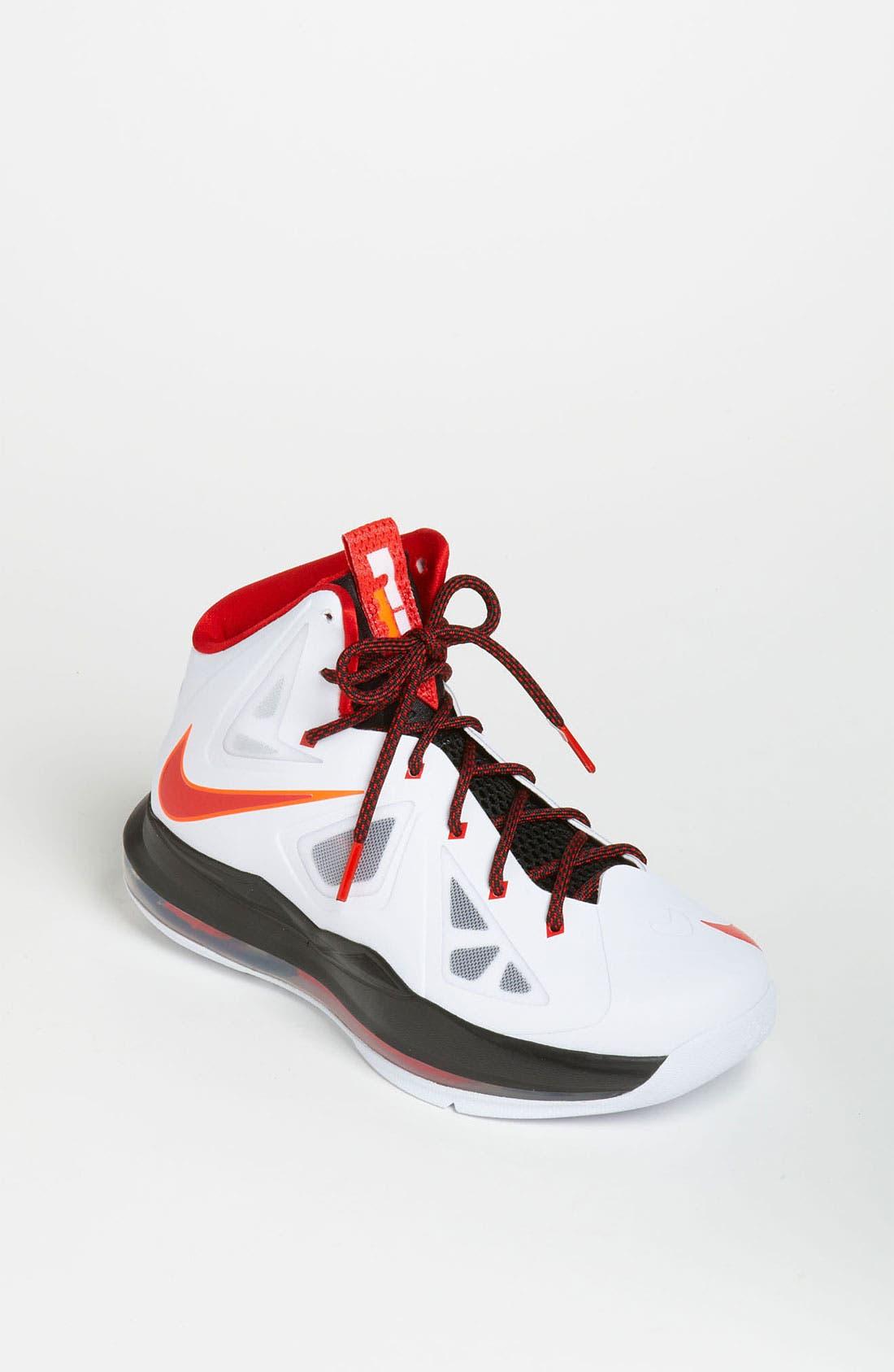 Alternate Image 1 Selected - Nike 'LeBron 10 Pressure' Basketball Shoe (Big Kid)