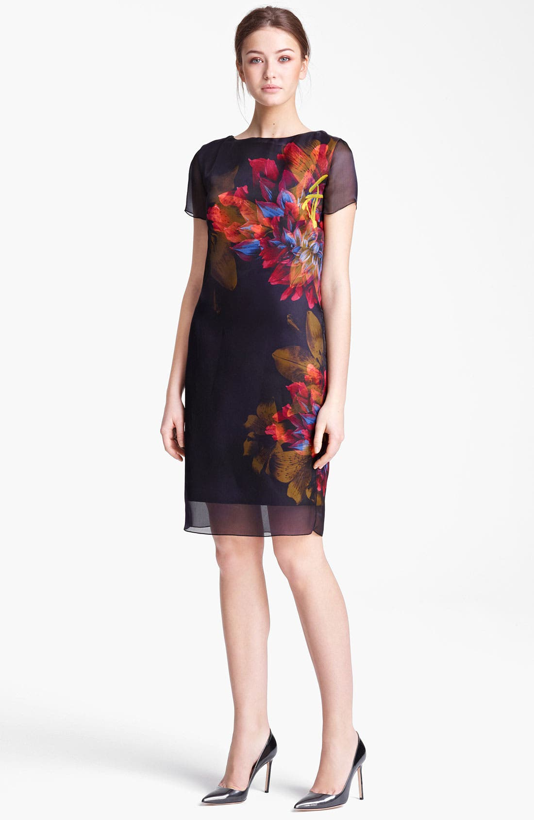 Main Image - Max Mara 'Algusto' Print Organza Dress