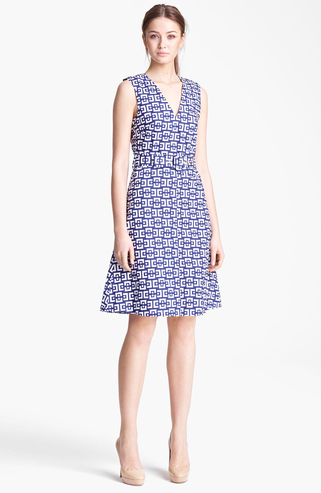 Alternate Image 1 Selected - Marni Belted Geo Print Dress
