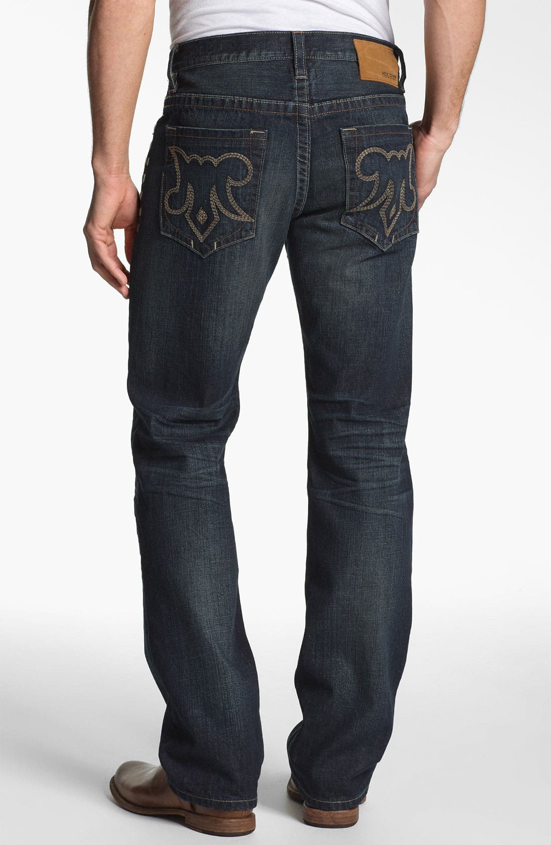 Alternate Image 1 Selected - MEK Denim 'Calix' Straight Leg Jeans (Hash)