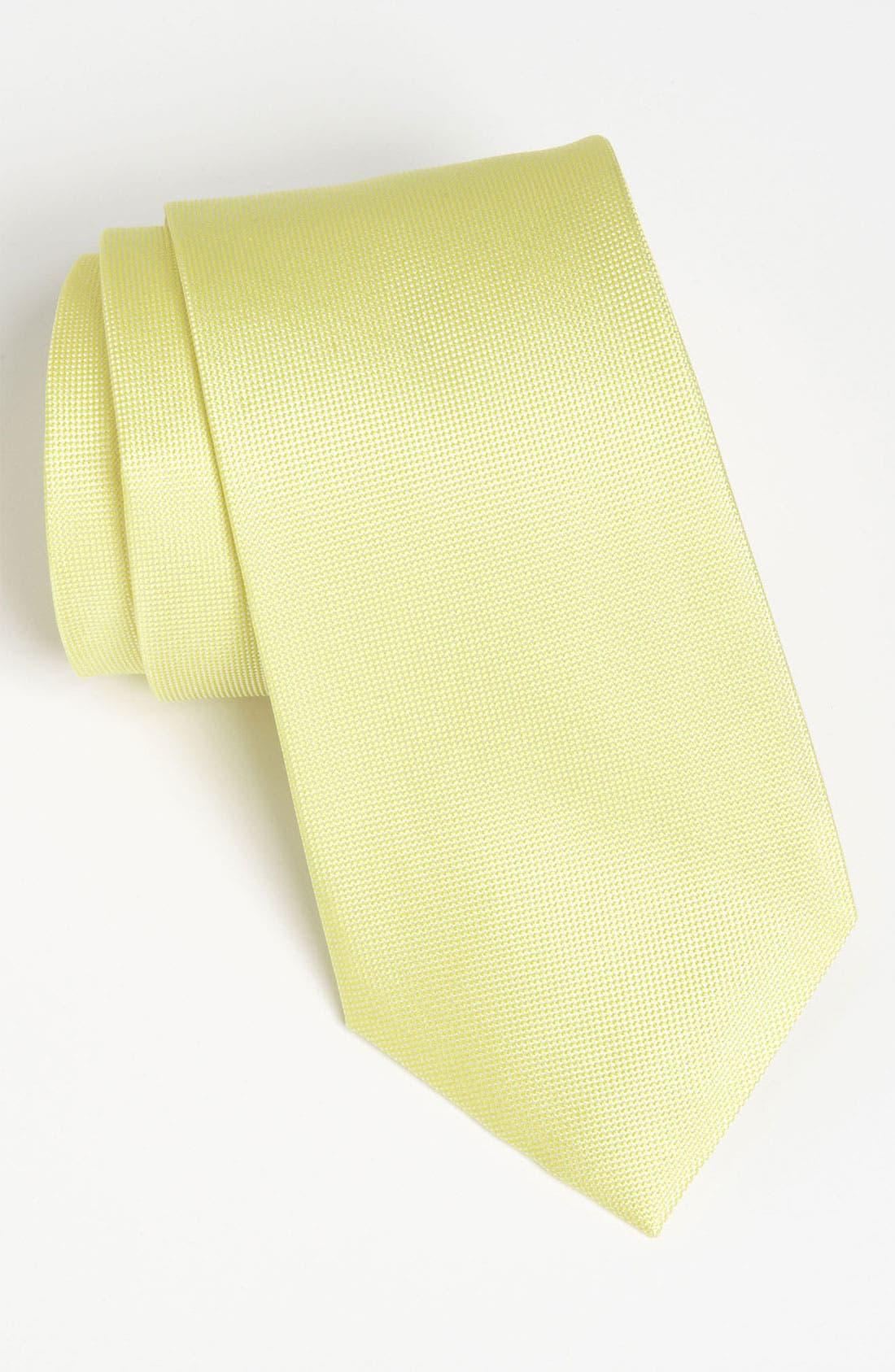Main Image - Calvin Klein Woven Silk Tie