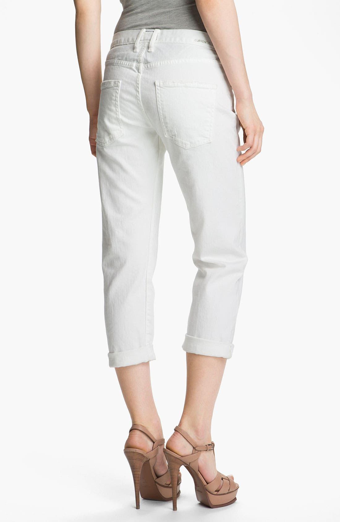 Alternate Image 2  - Current/Elliott 'The Boyfriend Jean' Stretch Jeans (Sugar)