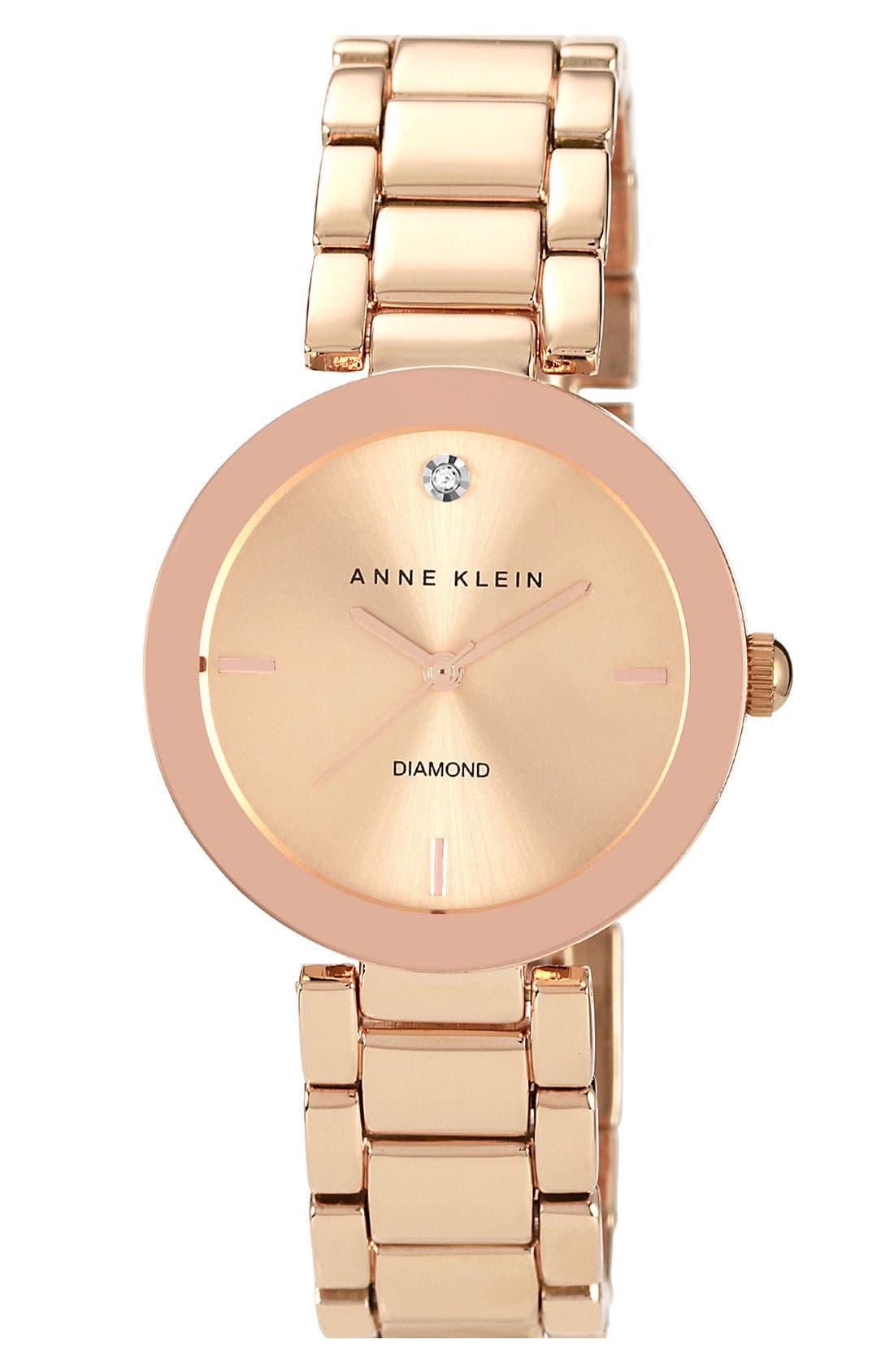 Main Image - Anne Klein Mirror Bezel Bracelet Watch, 32mm