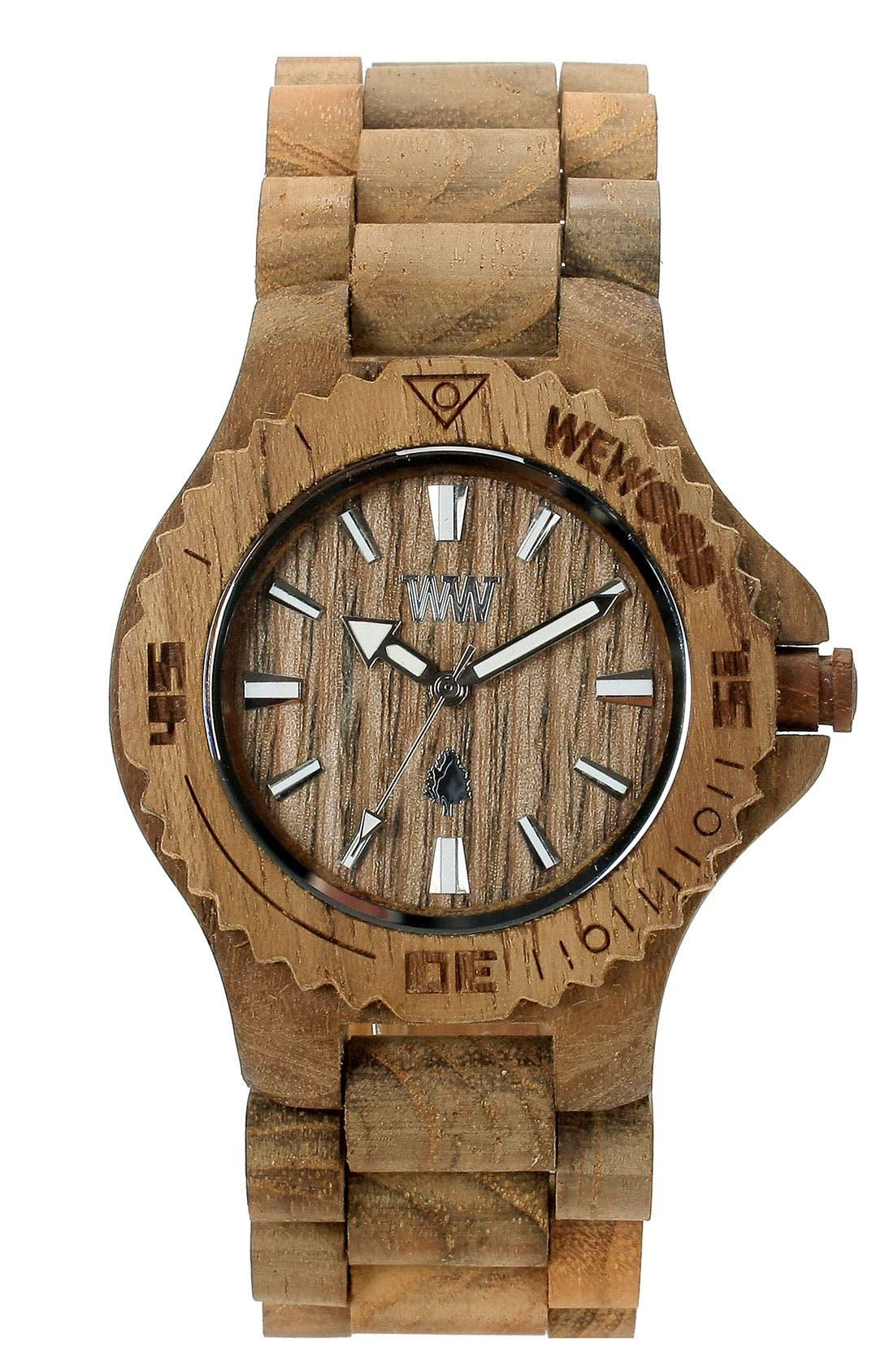 Alternate Image 1 Selected - WeWOOD 'Date' Bracelet Watch, 40mm